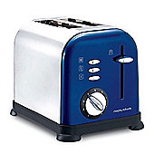 Morphy Richards 44740 Accents 2 Slice Toaster, Blue