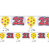 21st Birthday (All themes) 21st Foil Garland 10' (each)
