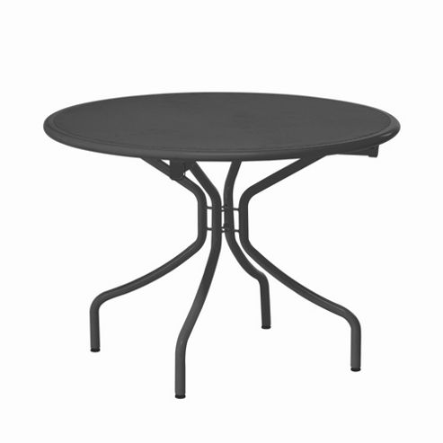 emu Cambi 106cm Round Table - Antique Iron