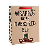 Pack Of Three Large Wrapped By Elf Gift Bags