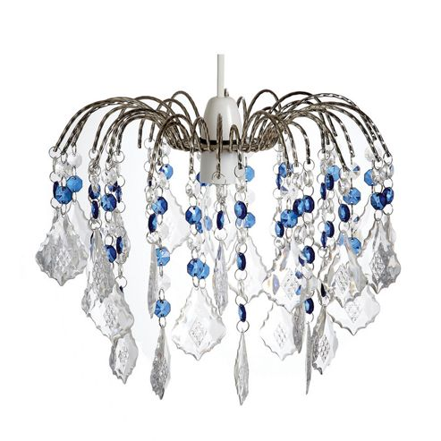 Loxton Lighting 1 Light Acrylic Fountain Chandelier - Clear Blue