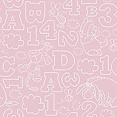 Graham & Brown Pooh 123 Wallpaper - Pink