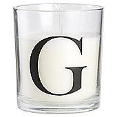 Sweet Vanilla Alphabet Candle Letter G
