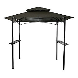 Bentley Garden 8 x 5 Ft Steel BBQ Gazebo - Grey