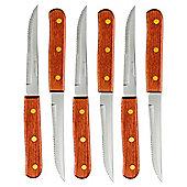 Amefa Wooden Handle Steak Knives, Set of 6