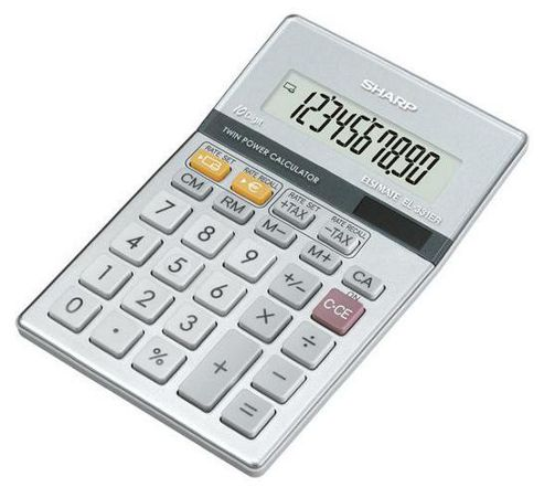 Sharp Semi Desktop Calculator Silver EL331ER