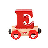 Bigjigs Rail BR105 Name Letter E (Colours Vary)