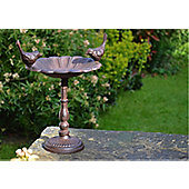 Inside Out Cast Iron Bird Bath