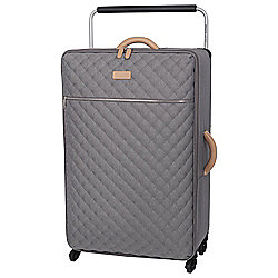 IT Luggage Tritex Quilted 4-Wheel Grey Large Suitcase