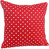 Homescapes Cotton Red Polka Dots Scatter Cushion, 30 x 30 cm