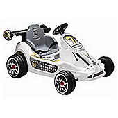 6V Go Kart Style Ride On Car White