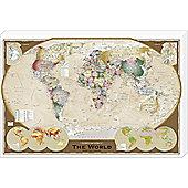 Vintage World Map Canvas, 91x61cm
