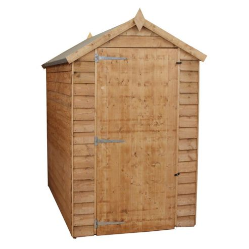 6x4 Windowless Overlap Apex Shed