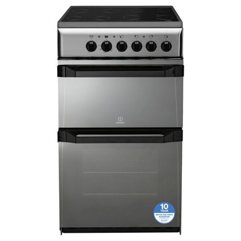 Indesit IT50CMS, Freestanding, Electric Cooker, 50cm, Moonstone, Twin Cavity, Single Oven