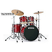 Tama Imperialstar Candy Apple Mist 22 Bass Drum 10, 12, Toms 14 Floor Tom Inc Hardware