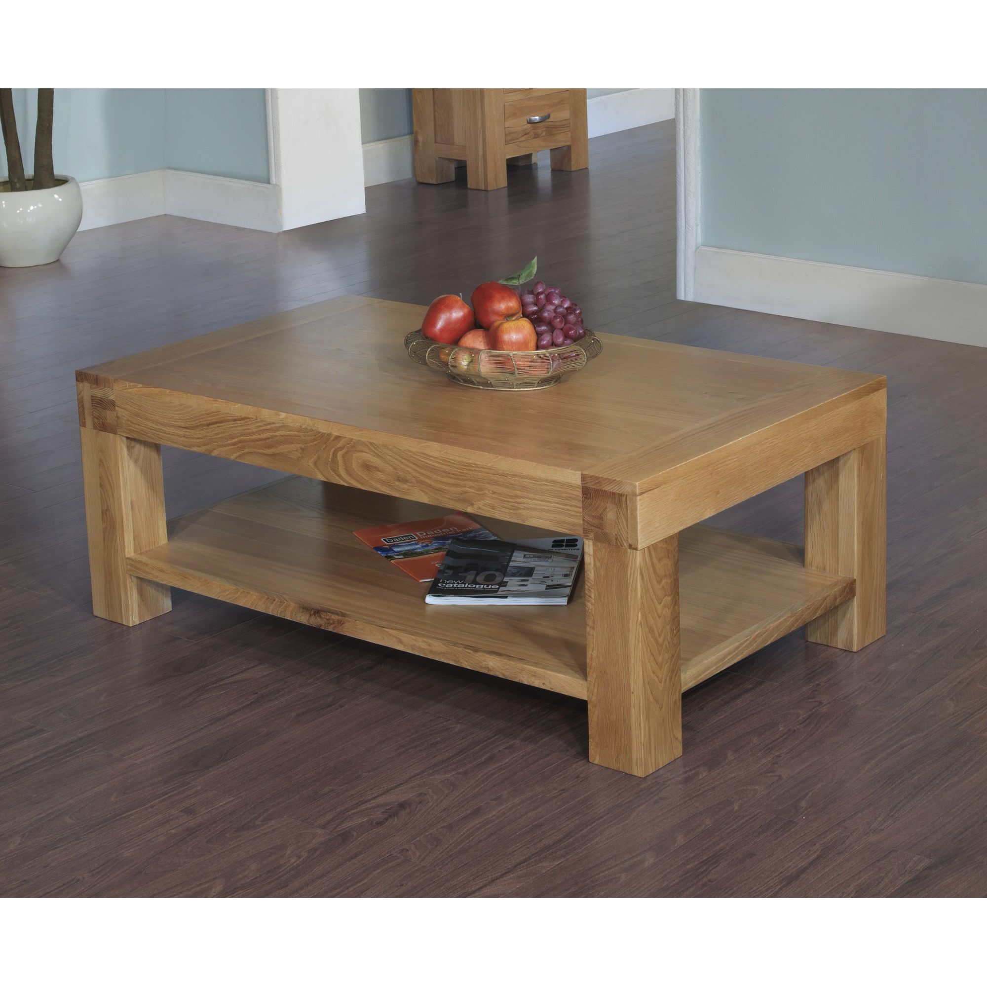 Hawkshead Rustic Oak Blonde Coffee Table at Tesco Direct