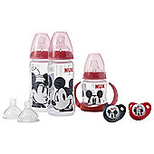 NUK Mickey & Minnie Bottle & Soother Set (6-18M)