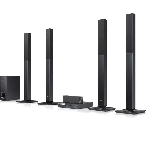 LG - LG 850 Wattage 5.1 Channel 4 Tall Speakers
