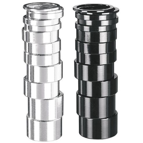 1 1/8' Alloy Spacers - 15mm Silver