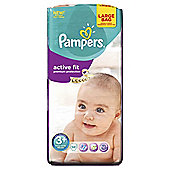Pampers Active Fit Size 3+ Large Pack - 58 nappies