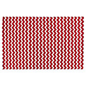 Tesco Chevron Rug Red 120x180cm