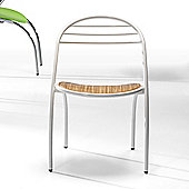 Redi Nelsy Chair - Chromed - Zebrano Wood