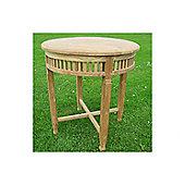 Livingstone Terrasso Betawi Garden Round Teak Bistro Table - 78 cm H x 70 cm W x 70 cm L