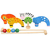 Bigjigs Toys BJ121 Jungle Animal Carpet Croquet