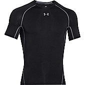 Under Armour Mens HG Armour Compression Short Sleeve T-Shirt - Black