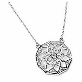 Filigree CZ Centre Flower Pendant