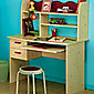 Parisot Lolita Desk in White Stained Pine / Raspberry