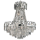 Endon Lighting AMADIS 6 light chandelier - chrome finish with glass drops