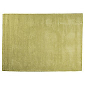 Plain Dye Wool Rug 160x230 Green