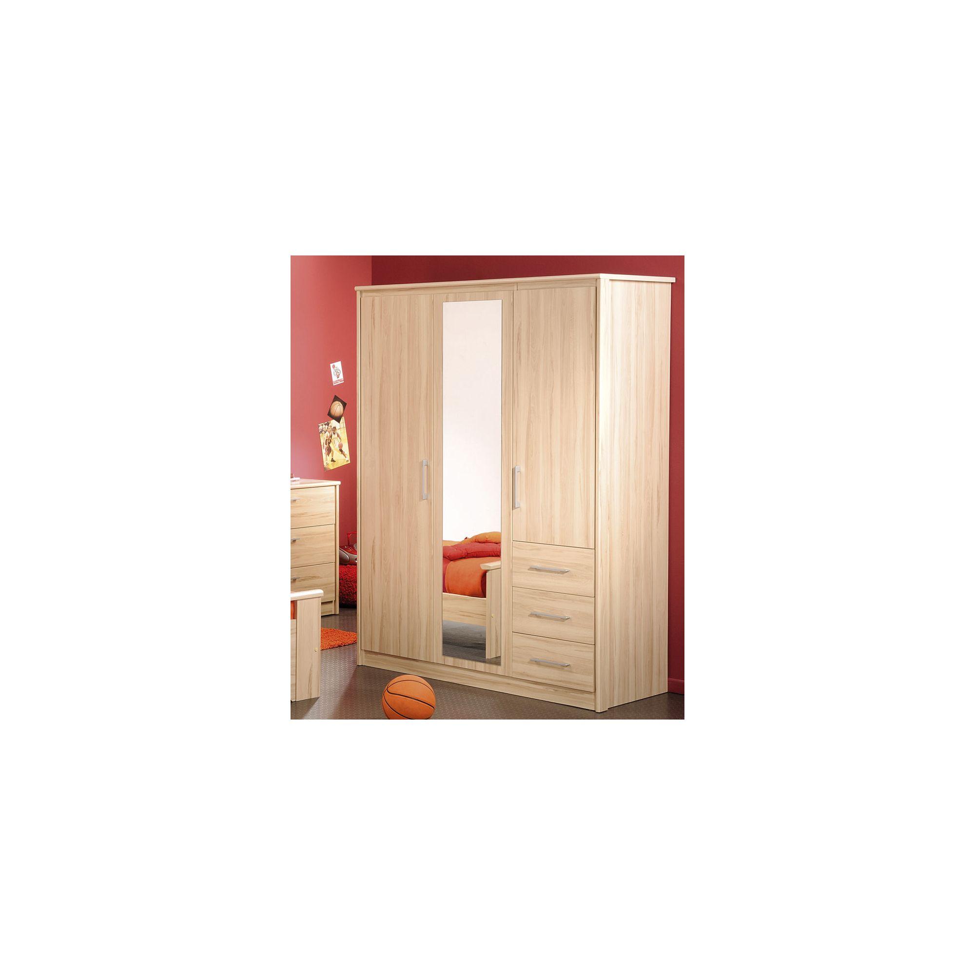 Parisot Kurt Three Door Wardrobe in Canyon Beech at Tesco Direct