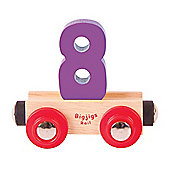 Bigjigs Rail Rail Name Number 8 (Purple)