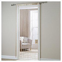 Plain String Curtain W90xL200cm - Cream