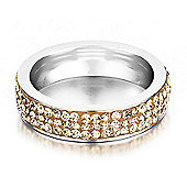 Shimla Ladies Gold Stainless Steel Ring - SH-124SM