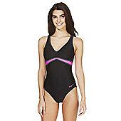Zoggs Contrast Trim Cross-Back Swimsuit - Black