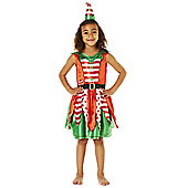 F&F Miss Elf Dress-Up Costume years 05 - 06 Red/White/green