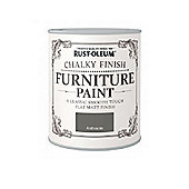 Rust-Oleum Chalky Furniture Paint - Anthracite - 750ML