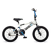 "Rooster Radical 16 BMX Bike White/Blue with 16"" Spoke Wheels"