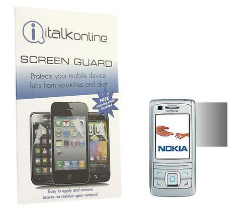 iTALKonline S-Protect LCD Screen Protector and Micro Fibre Cleaning Cloth - For Nokia 6280