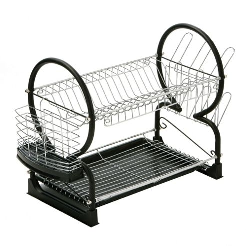 Premier Housewares 56 cm 2 Tier Dish Drainer with Tray