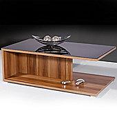 Vestige - Glass Storage Coffee Table / Tv Unit - Walnut / Black