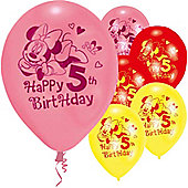 9' Disney Minnie Mouse 5th Birthday (6pk)