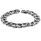 Mens Fred Bennett Patterned Link Steel Bracelet