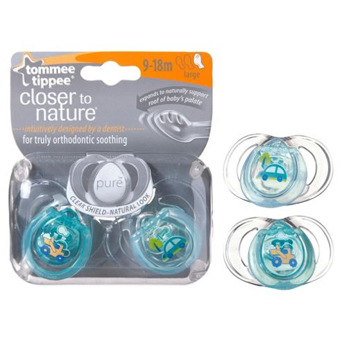 Tommee Tippee Closer To Nature Pure Soothers 9-18 months x2
