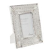 Linea White Wash Chunky Wooden Frame, 4 X 6