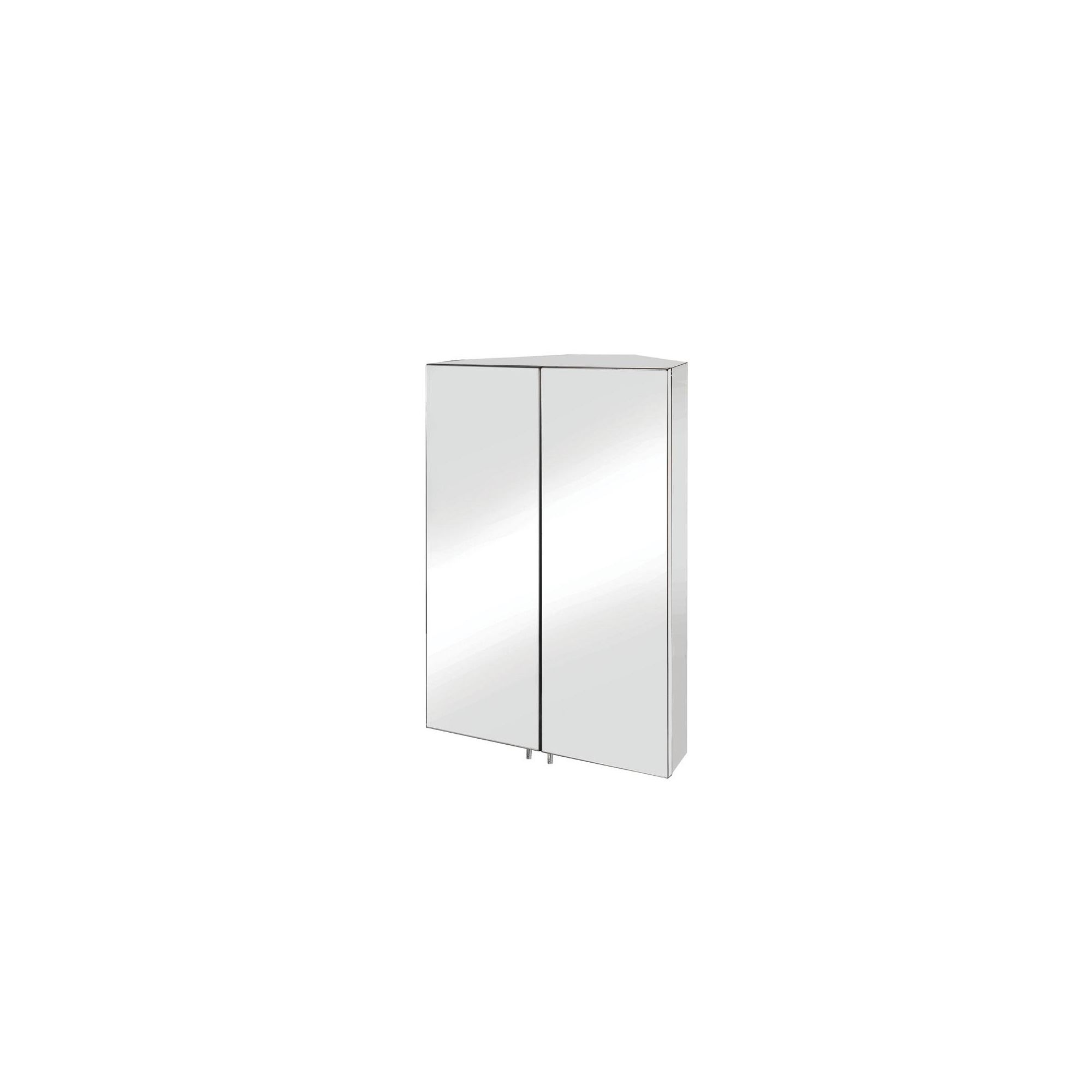 Croydex Avisio Double Door Stainless Steel Corner Bathroom Cabinet