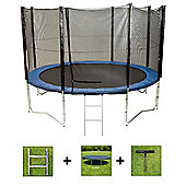 Up and About 14ft Jump Easy Trampoline Package with Free Ladder, Weather Cover and Building Tool